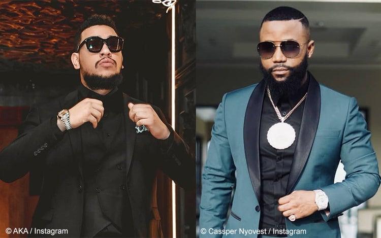 Les rappeurs sud-africains AKA et Cassper Nyovest prêts à monter sur le ring